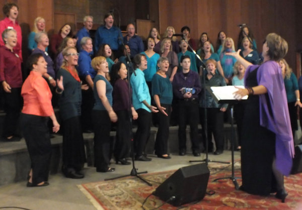 Kath Robinson with Choir